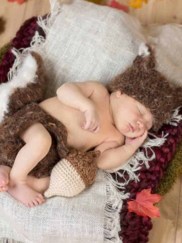 squirrel newborn crochet outfit
