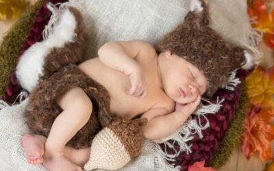 Newborn Squirrel Crochet Outfit
