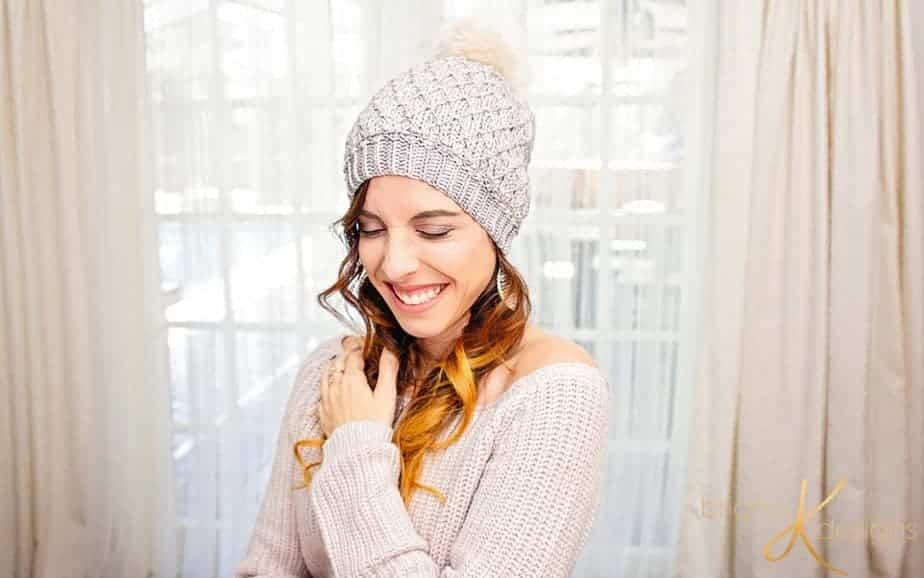Quilted Lattice Crochet Hat