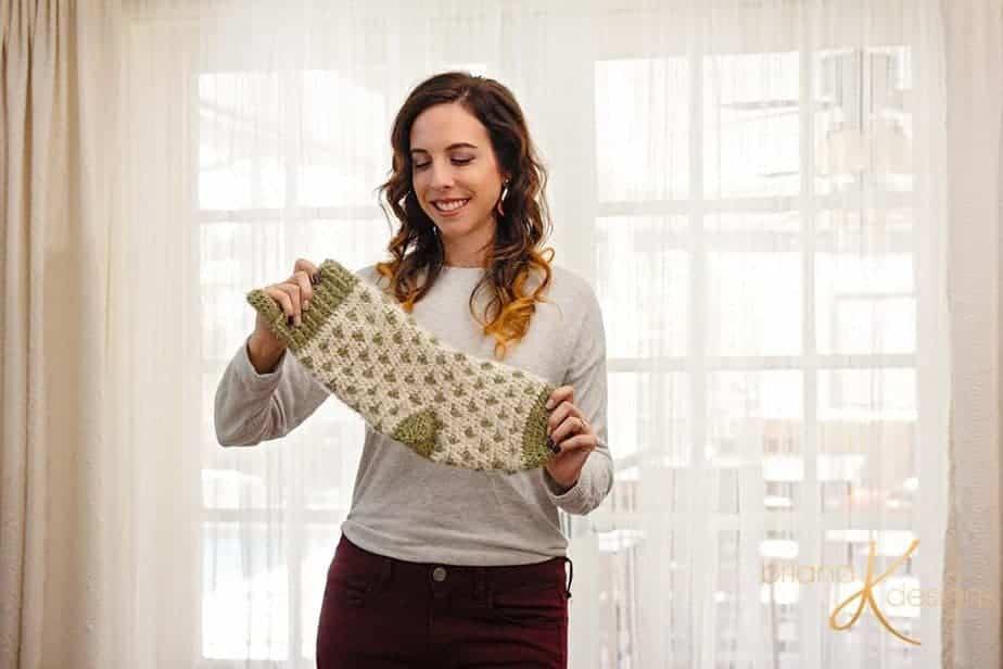 Polka Dot Stocking Crochet Pattern by Briana K Designs