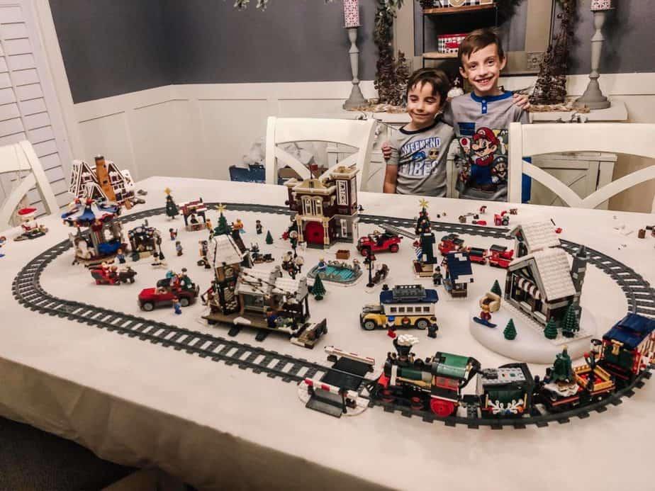 Briana K Designs Winter Lego Christmas Village