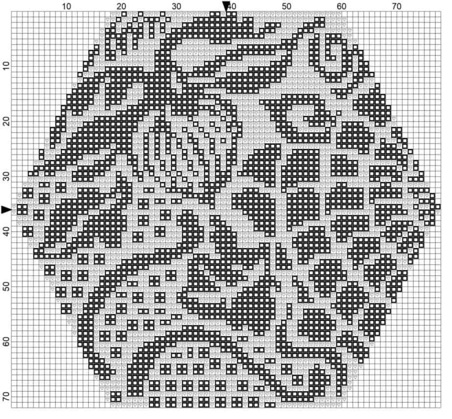 Gaudi's Barcelona Tile Cross Stitch Chart by Briana K Designs