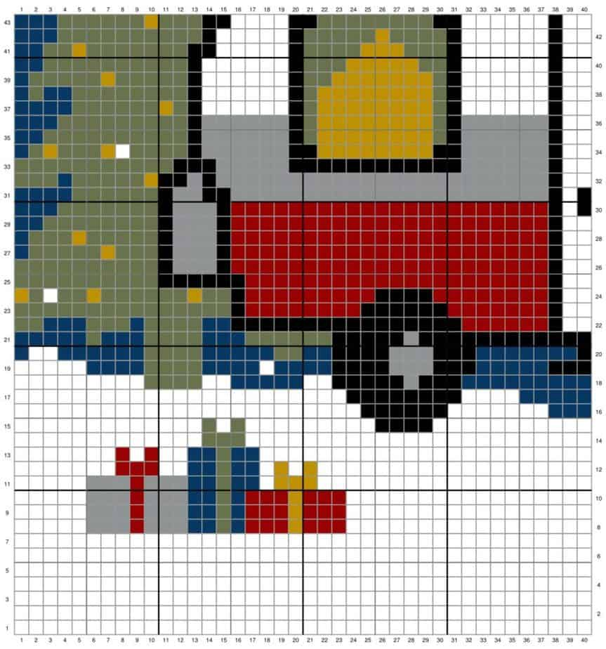 Holiday Christmas Camper Pillow Cover by Briana K Designs