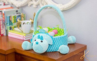 Dinosaur Crochet Easter Basket