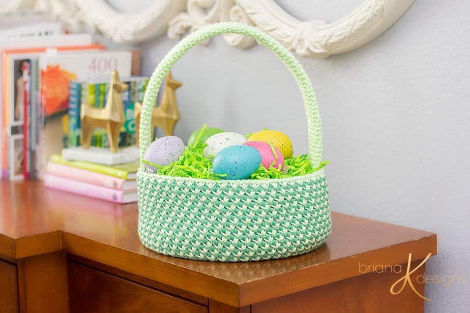 Dinosaur Crochet Easter Basket by Briana K Designs_0066