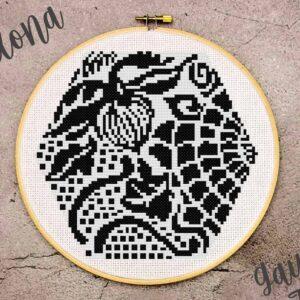 Gaudi cross stitch pattern