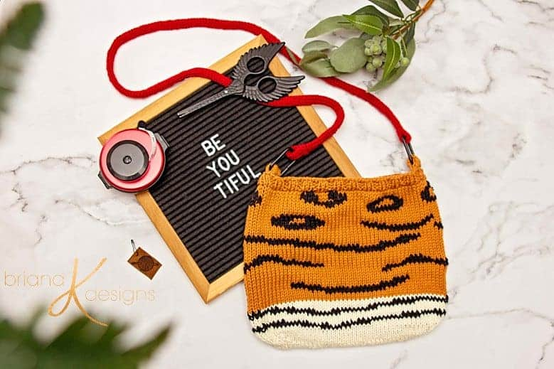 Animal Print Knit Bag Pattern