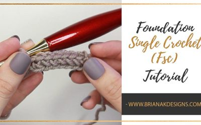 How to Foundation Single Crochet Fsc