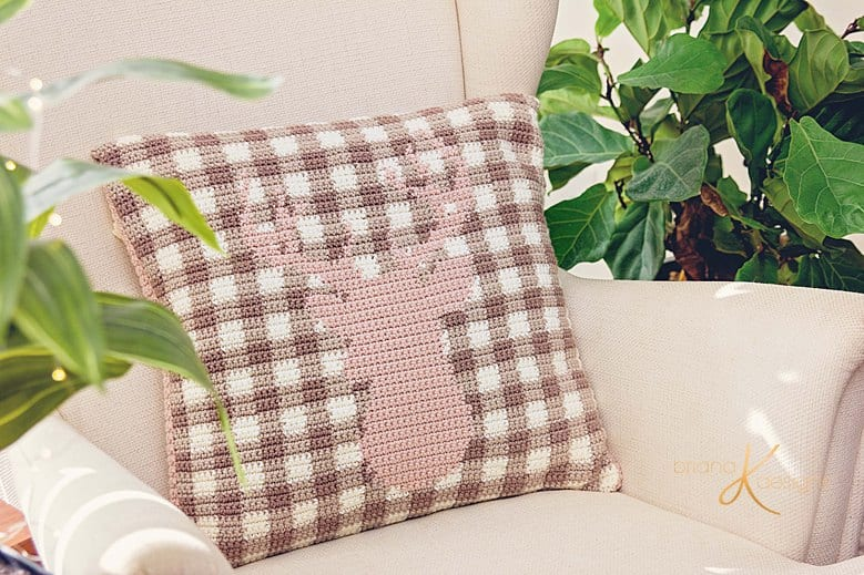 Plaid Spring Deer Pillow Cover by Briana K Designs_0004