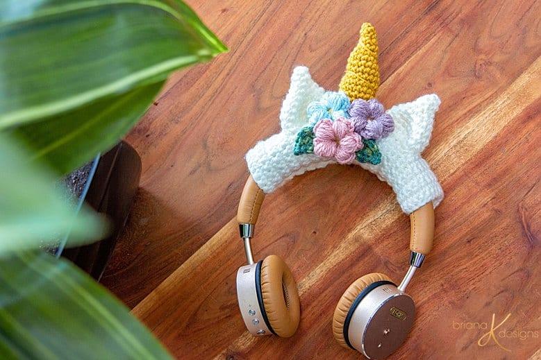 Unicorn Headphone Crochet Wrap