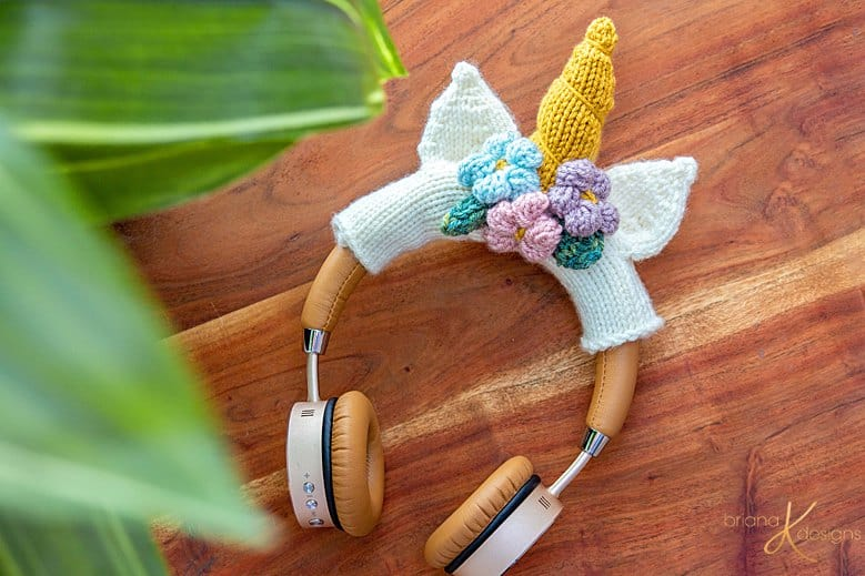 Unicorn Knit Headphones