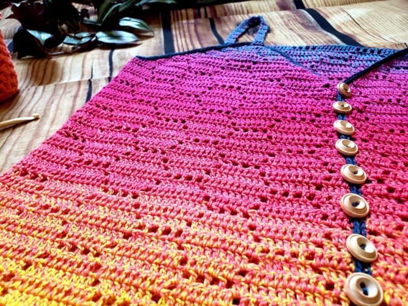 Honeycomb Crochet Tank Top