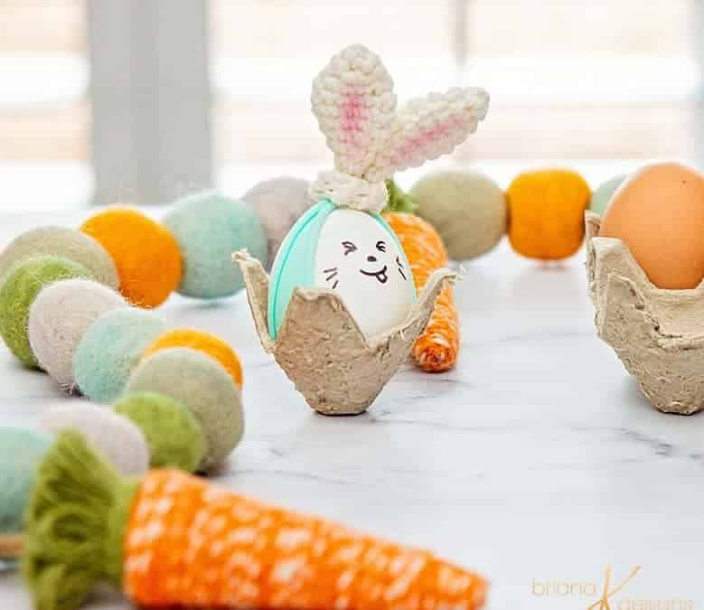 Crochet Bunny Hair Ties