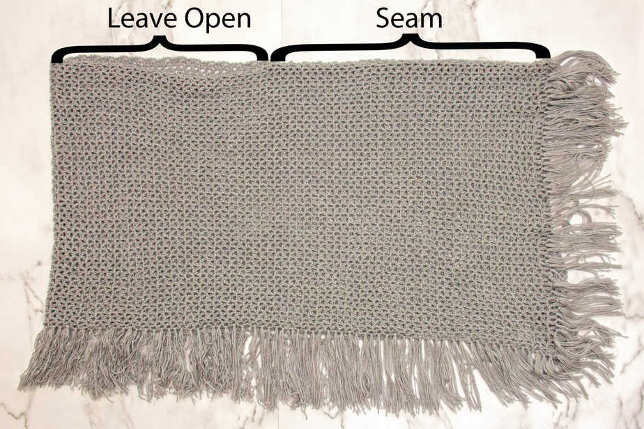 Crochet Beginner Lace Weight Poncho Pattern
