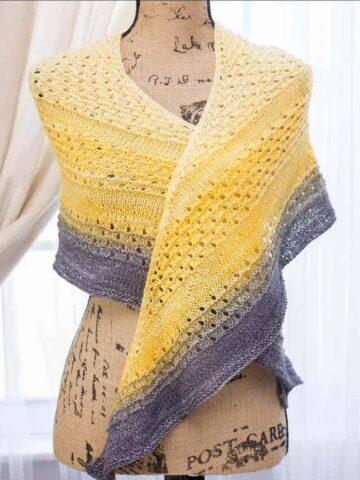 Dawn to dusk knit shawl pattern