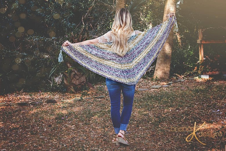 Faroese Triangle Knit Shawl Pattern