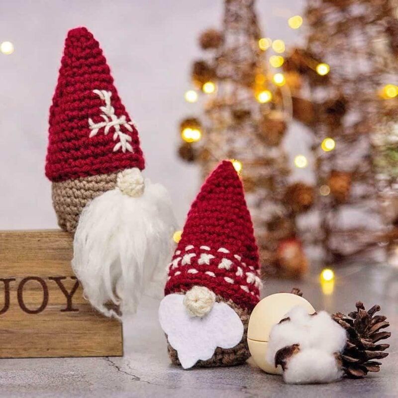 gnome santa ornament crochet pattern