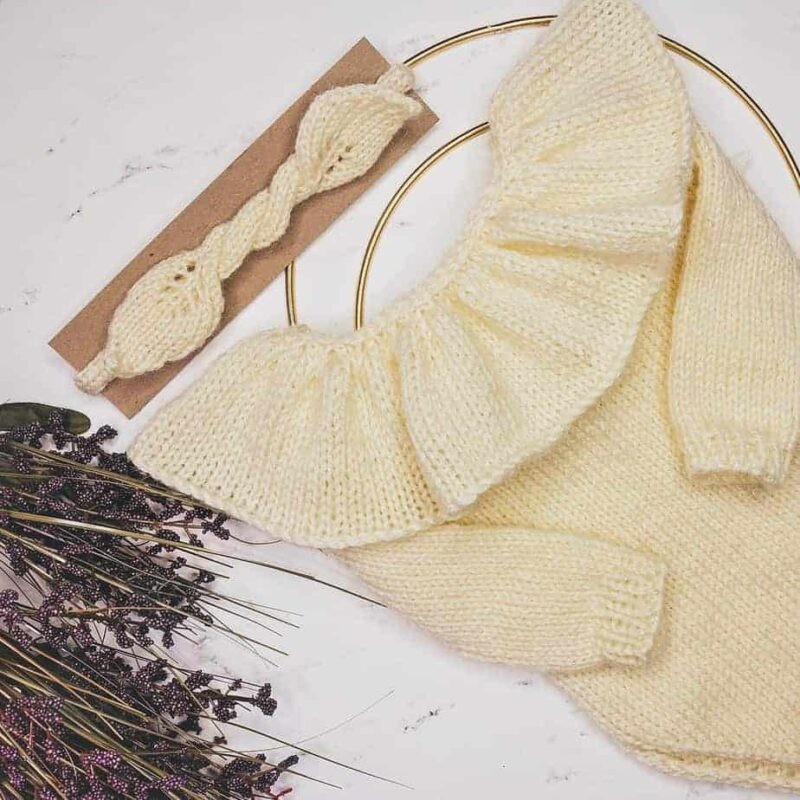 kyra ruffle romper knit pattern