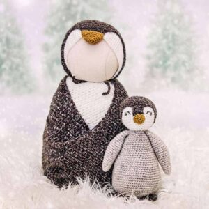 penguin crochet newborn outfit
