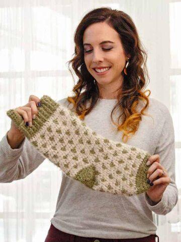 polkadot stocking crochet pattern