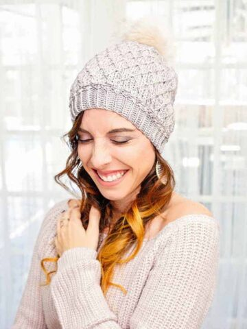 quilted lattice crochet hat pattern