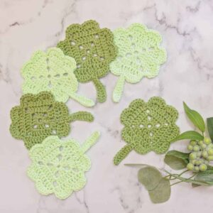 shamrock coaster crochet pattern