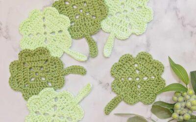 Shamrock Crochet Coaster