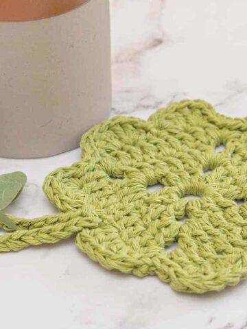 shamrock potholder crochet pattern