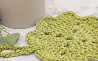 Shamrock Crochet Potholder Pattern