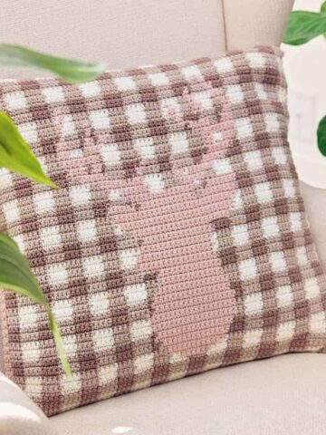 spring deer plaid pillow cover