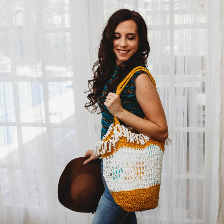 Boho Grocery Bag Crochet Pattern