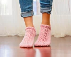 Whims Flat Knit Easy Knit Socks