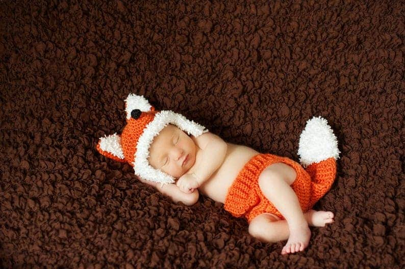 Fox Baby Crochet Outfit