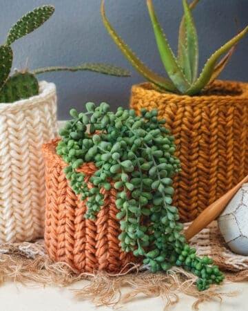 Herringbone Crochet Basket Stitch