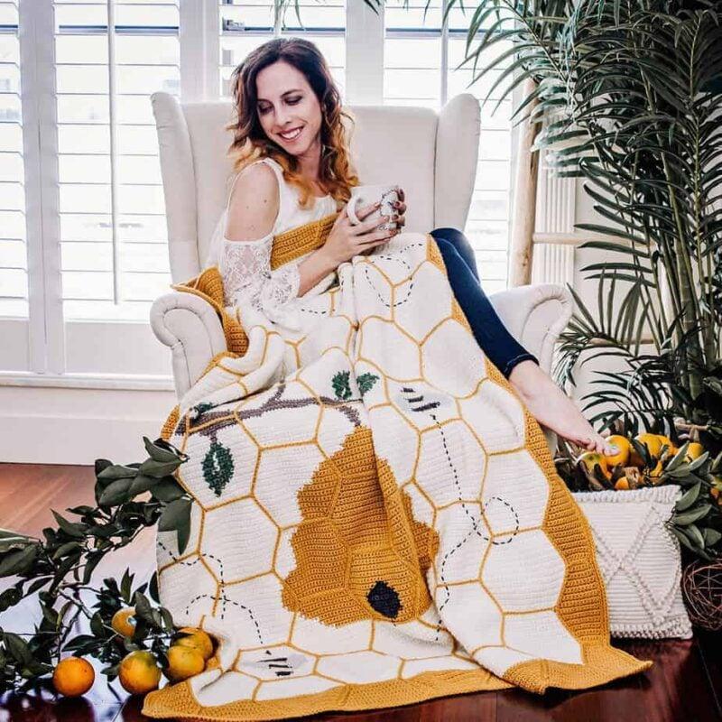 bee blanket crochet pattern