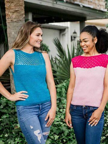 Summer crochet and knit top beginner