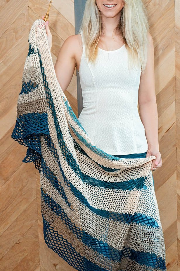 Fisherman's Wharf Crochet Shawl