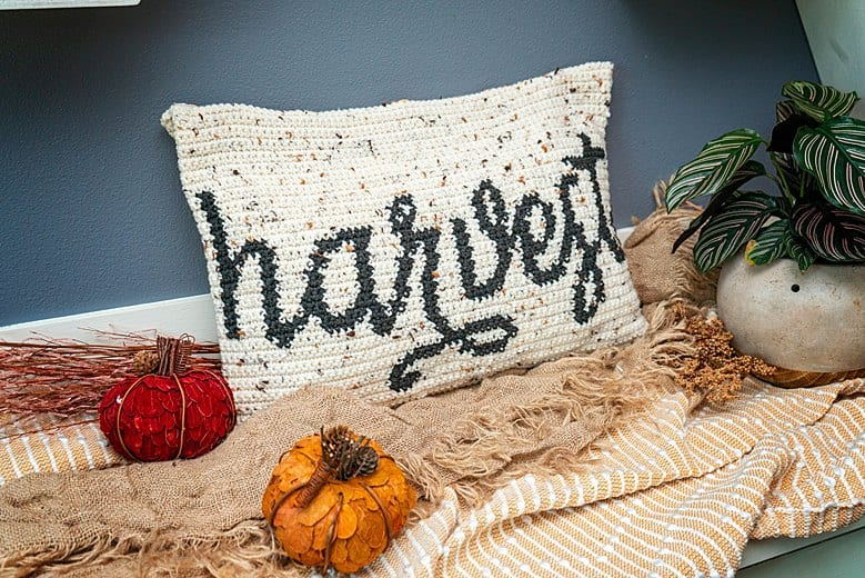 Harvest Free Crochet Pillow Pattern