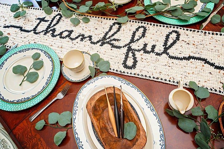 Thankful Table Runner Free Crochet Pattern