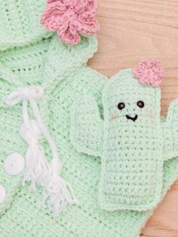 cactus crochet poncho pattern