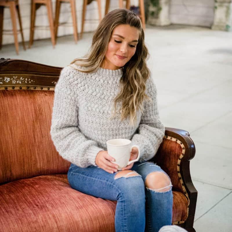Macchiato Sweater Crochet Pattern Adult