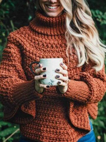 Macchiato Crochet Poncho