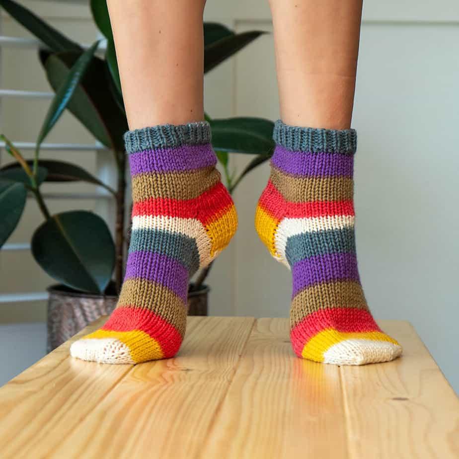 Free Knit Beginner Felici Sock Pattern - Briana K Designs