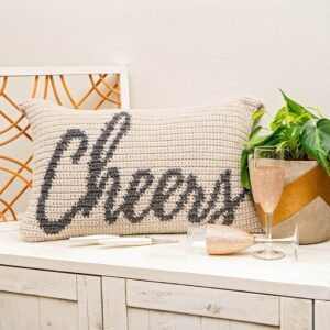 Cheers Crochet Pillow Pattern