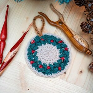 Wreath Ornament & Coaster Crochet Pattern