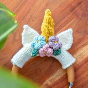 unicorn headphone knit pattern